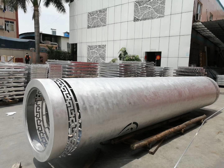 包柱冲孔铝单板